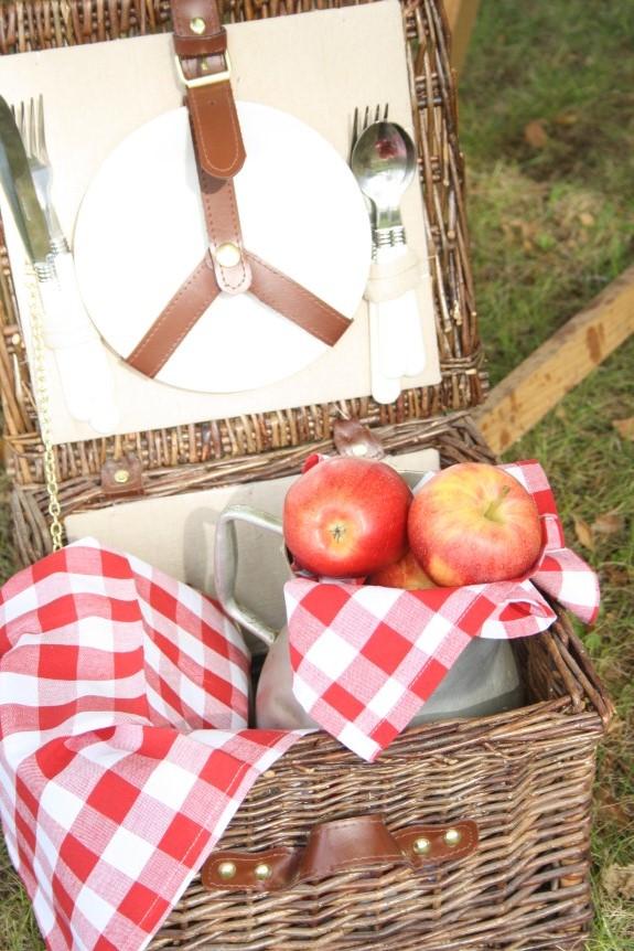 mesa dulce con temática de picnic